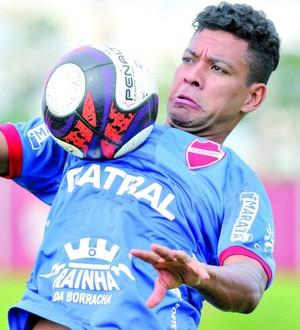 Wallyson, atacante do Vila Nova (Foto: Cristiano Borges/O Popular)