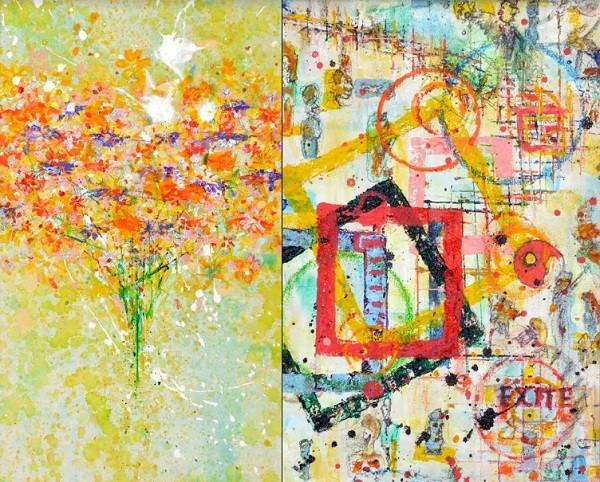 Os quadros inspirados pelo trabalho na novela de época Êta Mundo Bom! estão na mostra  (Foto: Reprodução)
