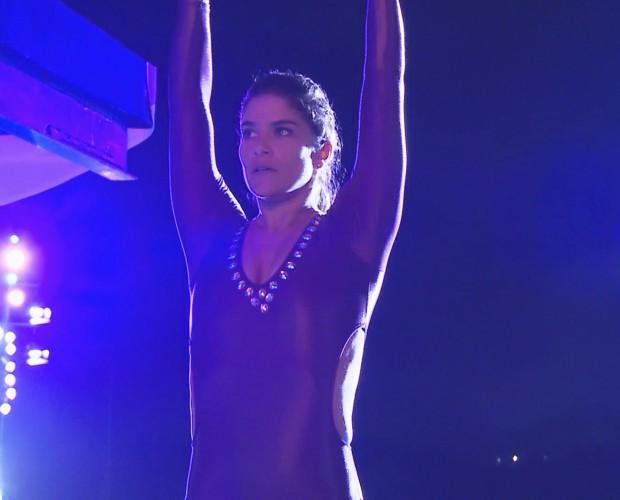 Priscilla Fantin lidera o ranking feminino (Foto: TV Globo)