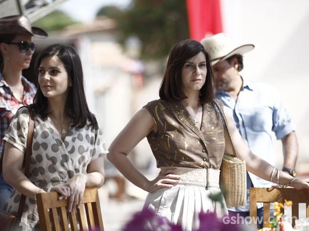 As atrizes são amigas há longa data e estreiam juntas em novelas (Foto: Inácio Moraes/TV Globo)