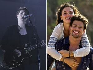 Remy, cantora do The xx, e Cauã Reymond e Isis Valverde em 'Amores roubados' (Foto: Mario Anzuoni/Reuters e TV Globo)