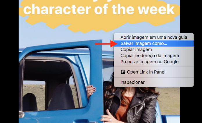 Baixando fotos do Stories do Instagram através do Google Chrome (Foto: Reprodução/Marvin Costa)