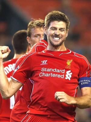 Gerrard, Liverpool X Ludogorets (Foto: Getty Images)