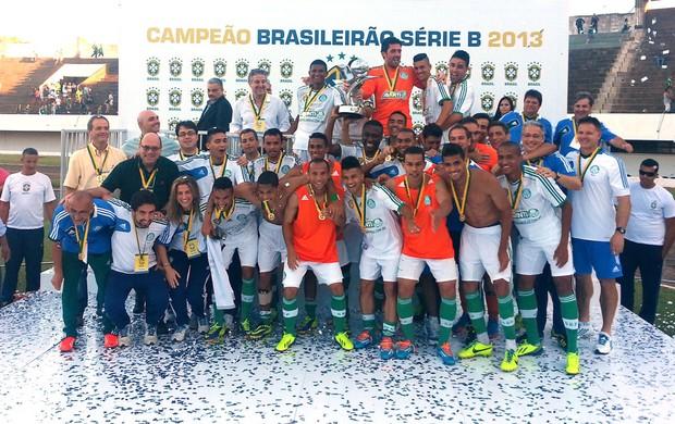 Comemoração Palmeiras Taça Série B (Foto: Marcelo Prado)