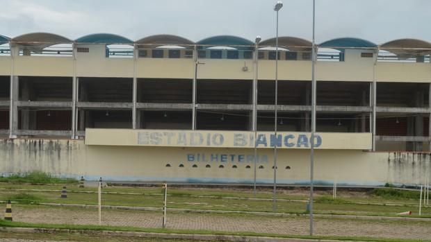 Estádio Biancão, em Ji-Paraná (Foto: Gustavo Rebouças)