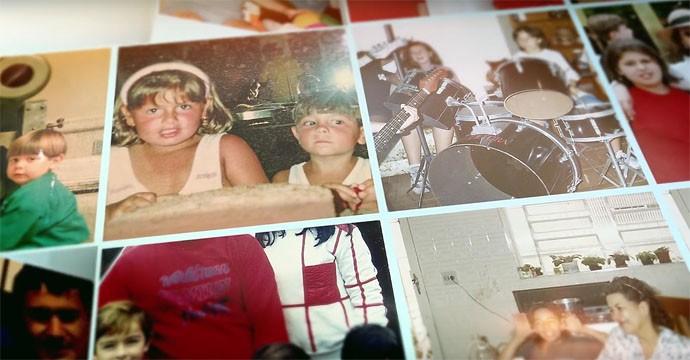 Malta na infância fotos do lyric vídeo de Dona da Voz (Foto: Reprodução)