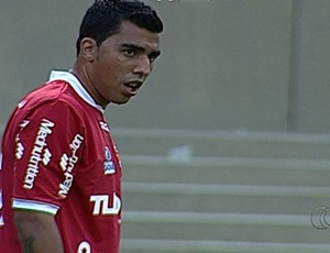 Thiago Marin, meia do Vila Nova (Foto: Reprodução/TV Anhanguera)