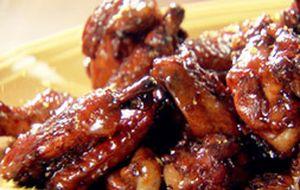 Asas de frango com vinagre balsâmico