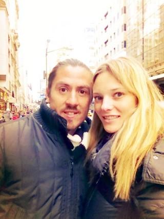 Fabiana Semprebom e Guillermo (Foto: Arquivo Pessoal)