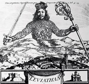 UM SÓ CORPO Capa do Leviatã, de Hobbes. Somos todos partes iguais  na doença – e como remédio (Foto: Reprodução)