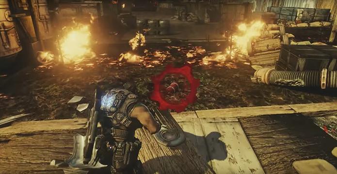 Gears of War 3 apostou em cenários mais vibrantes (Foto: Reprodução/YouTube)