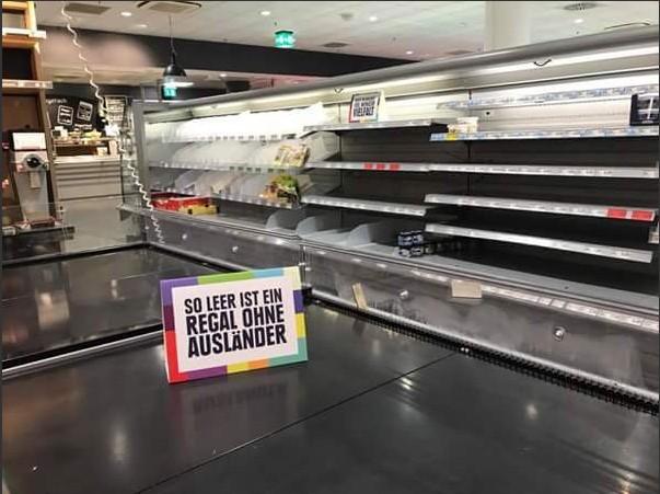 Supermercado retira produtos estrangeiros para mostrar o efeito do racismo
