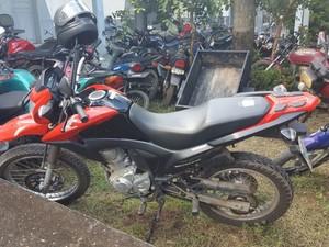 Moto havia sido roubada na semana passada (Foto: Marco Bernardi/G1)