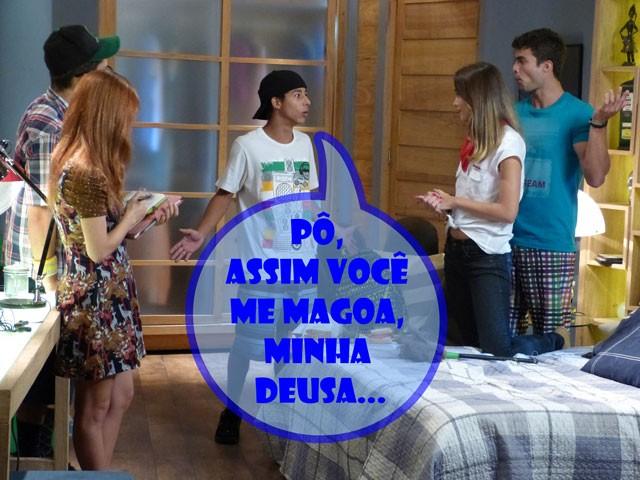 Tadinho do Pilha, né glr? Nem na ficção ele se dá bem! (Foto: Malhação / TV Globo)