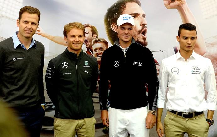 Nico Rosberg e Pascal Wehrlein coletiva treino Alemanha (Foto: AFP)