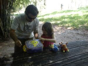 Leandro Duran Pereira e a filha Juliana (Foto: Arquivo pessoal)