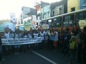 Protesto (Foto: Camila dos Anjos/TV Santa Cruz)