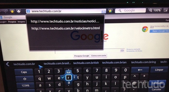 Digite a URL na barra de endereços (Foto: Gabriel Ribeiro/TechTudo)