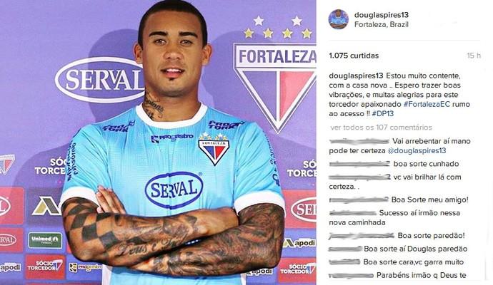 Douglas Pires posta foto com camisa do Fortaleza (Foto: Reprodução / Instagram)