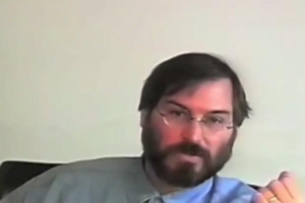 Steve Jobs em entrevista em 1994 (Foto: steve jobs)