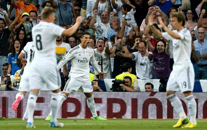 Cristiano Ronaldo comemora gol do Real Madrid (Foto: AFP)