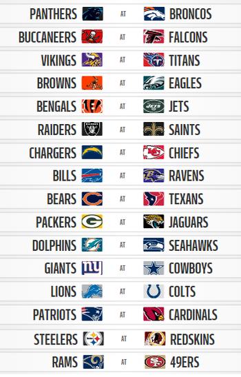 NFL semana 1  (Foto: Reprodução / NFL.com)