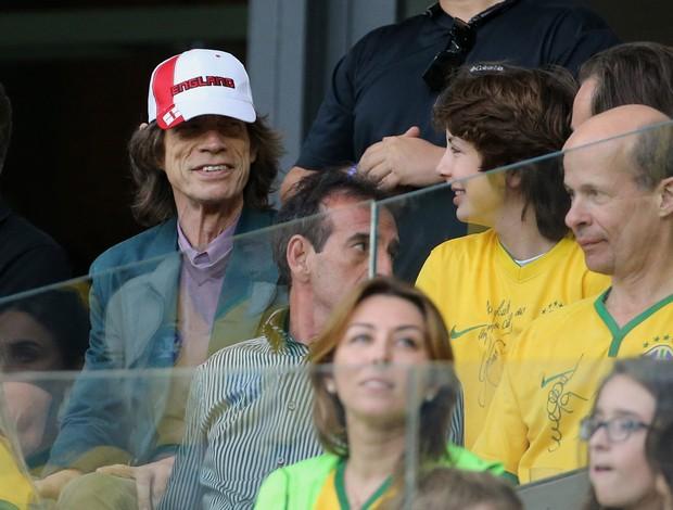 Mick Jagger e Lucas Jagger Brasil x Alemanha