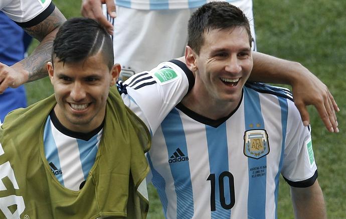 Agüero Messi Argentina (Foto: Reprodução / Facebook)