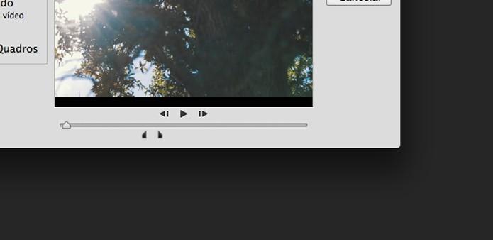 Escolha o trecho do vídeo (Foto: Reprodução/André Sugai )