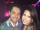 Decotada, ex-BBB Andressa vai à festa em que Nasser estreia como DJ