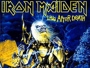 Capa do disco 'Live after death', do Iron Maiden. (Foto: Divulgação)