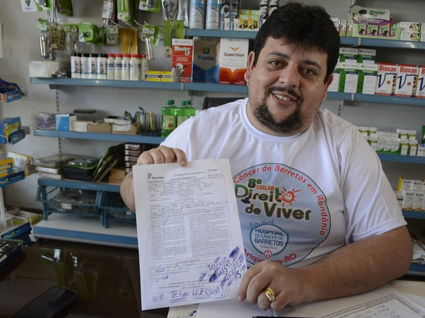 Gerente de loja percebeu fraude a tempo, em Ariquemes (Foto: Franciele do Vale/ G1)