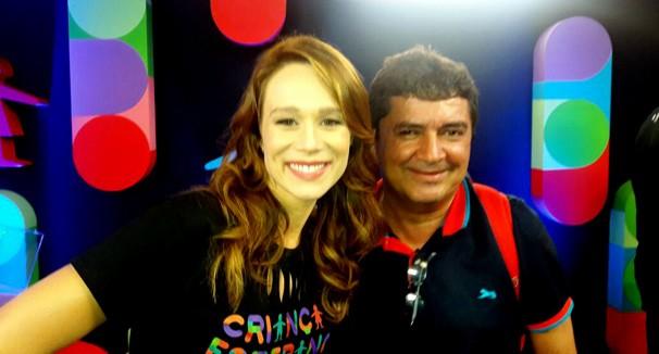 Fernando Cardoso com a atriz Mariana Ximenes  (Foto: Arquivo Pessoal)