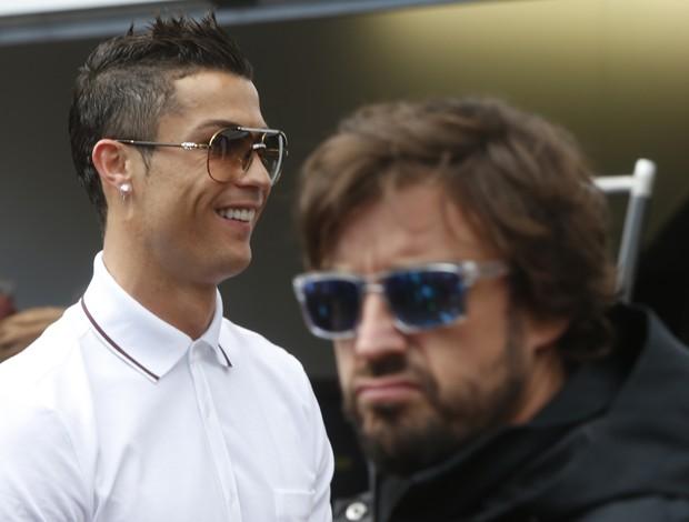 Cristiano Ronaldo e Fernando Alonso no GP de Monaco