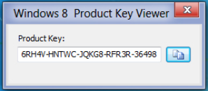 Windows 8 Product Key Viewer