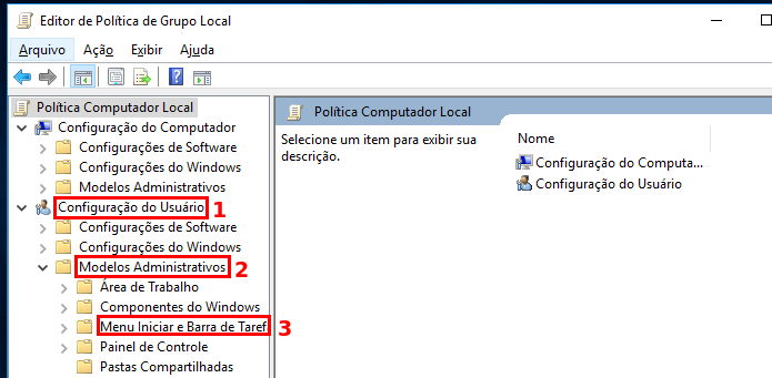 Acessando as configurações do Menu Iniciar e barra de tarefas (Foto: Reprodução/Edivaldo Brito)