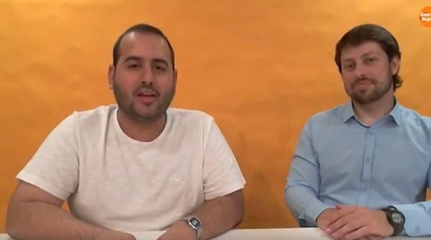 Paulo Crepaldi (à direita), analista do Sebrae-SP, participou de live no Facebook de PEGN (Foto: Reprodução)