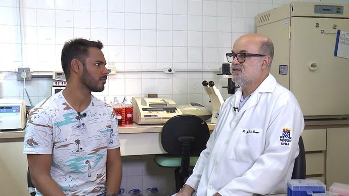 Pesquisador Gubio Soares fala sobre as parcerias feitas para a descoberta (Foto: TV Bahia)