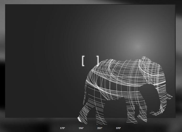 Comparação do tamanho da TV de 370 polegadas com um elefante (Foto: Reprodução/Titan)