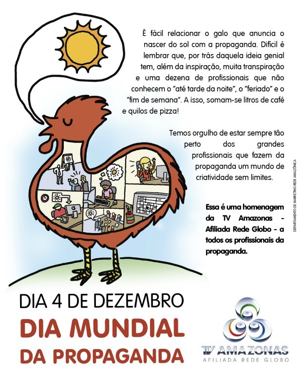 Homenagem ao Dia da Propaganda (Foto: TV Amazonas)