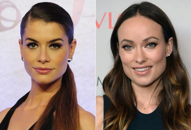 O rosto quadrado, como de Alinne Moraes e Olivia Wilde, tem as medidas equilibras entre a parte superior e inferior (Foto: Getty Images)