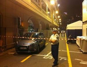 Ameaça de bomba faz a polícia  isolar área do circuito de Mônaco (Reprodução: Twitter)