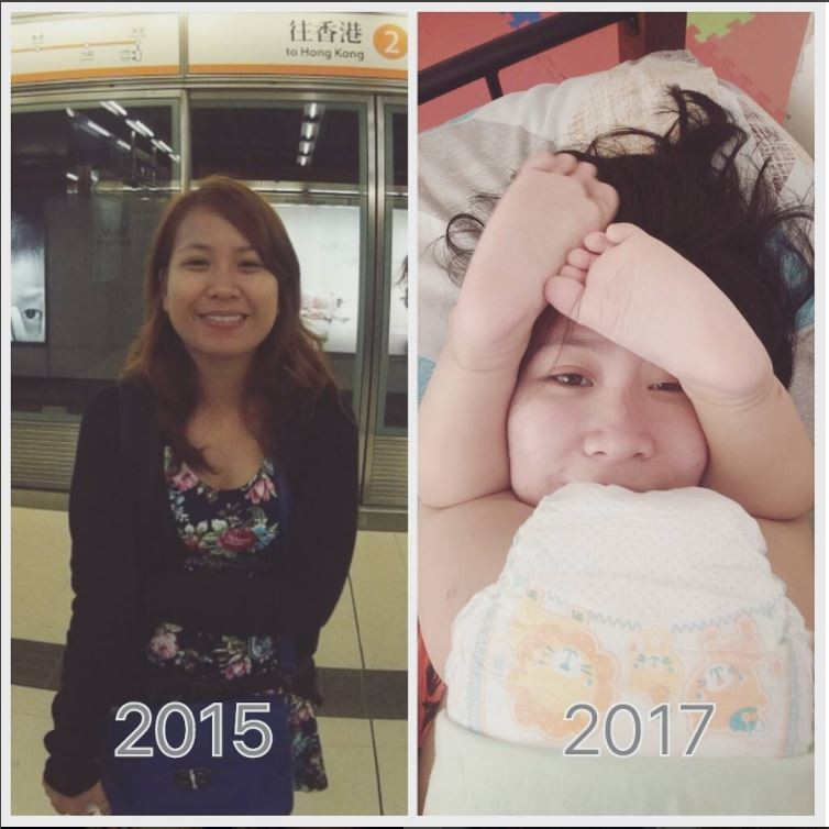 Post de @poisonivyvy sobre o antes e depois dos filhos (Foto: Instagram)