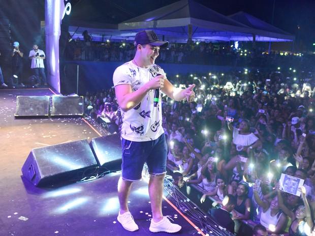 Wesley Safadão em show em Salvador, na Bahia (Foto: André Muzell/ Brazil News)