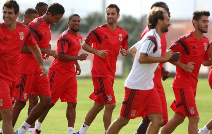 Jonas treino Benfica (Foto: Facebook)