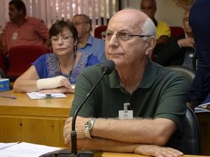 João Felício Scardua foi ouvido a respeito de irregulridades no credenciamento de pátios. (Foto: Reinaldo Carvalho/ALES)