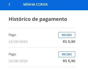 histórico de pagamento 2 (Foto: Globo Premium)