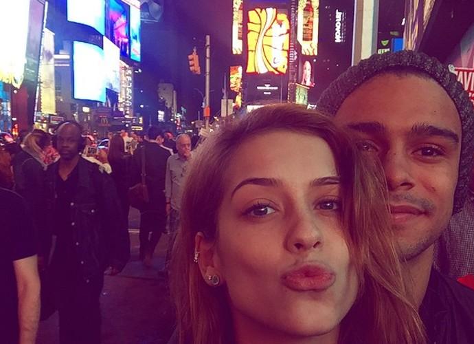 Os pombinhos curtiram o Times Square (Foto: Arquivo Pessoal)