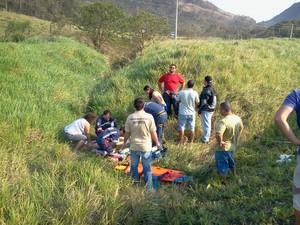 Bombeiros, PRF e Samu fazem atendimento das vítimas (Foto: Corpo de Bombeiros/Divulgação)