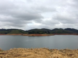Represa do Jaguari em Jacareí, SP (Foto: Daniel Corrá/G1)